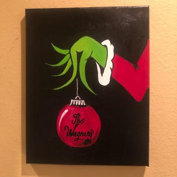 Customizable Grinch Painting Decor  8x10